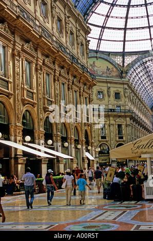 GALLERY VITTORIO EMANUELE II MILAN ITALY - Stock Image