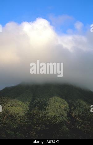 Nevis Mount Nevis peak clouds - Stock Image