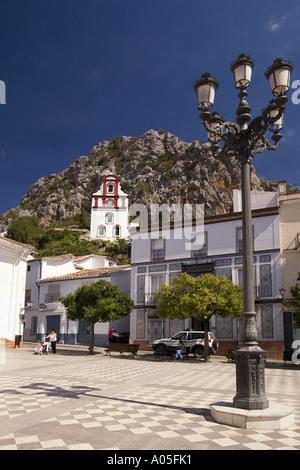 Spain Andalucia pueblo blanco Grazalema church - Stock Image