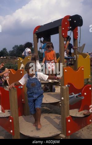 child in playground - Stock Image