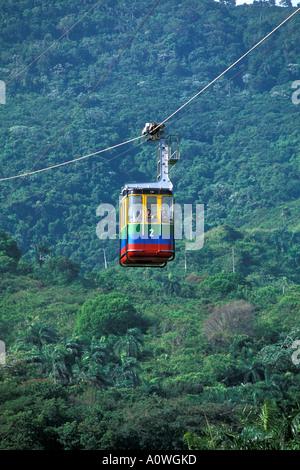 Dominican Republic Puerto Plata Isabela de Torres cable car - Stock-Bilder