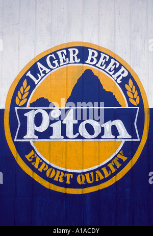 St Lucia  Piton beer sign saint lucia - Stock Image