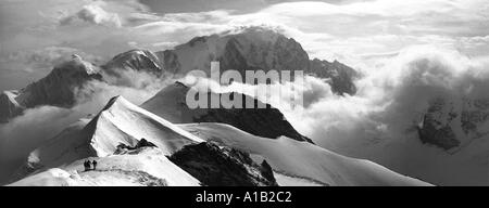 Mont Blanc from the Dôme de Miage, Mont Blanc massif, French Alps, France - Stock Image