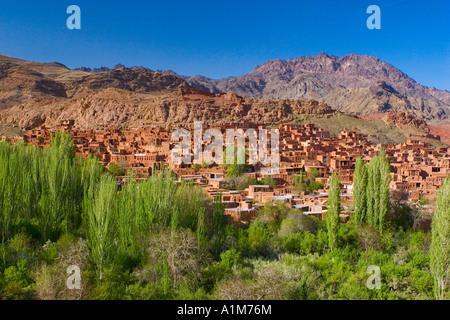 Village of Abyaneh near Kashan, Isfahan province, Iran - Stock Image