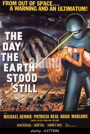 THE DAY THE EARTH STOOD STILL poster for 1951 TCF film - Stock Image