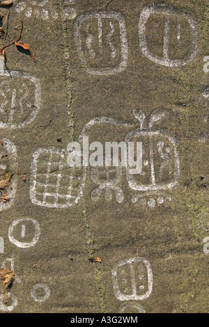 Rock carvings in Släbro, Nyköping, Sweden, Europe. These are about 3000 years old from the bronze age - Stock-Bilder