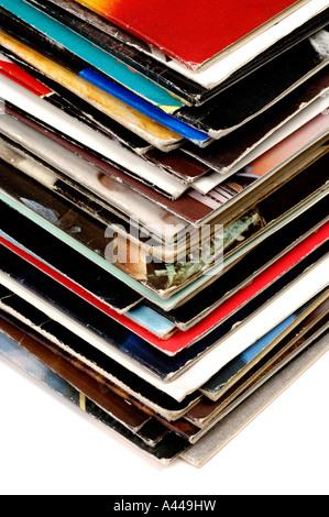 Music record sleeves - Stock-Bilder