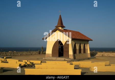 Aruba Alto Vista Chapel iconic aruba landmark - Stock Image