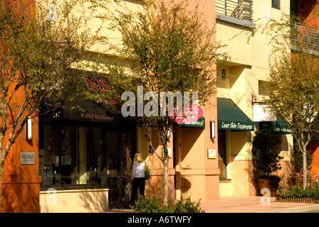 Orlando Florida  Thornton Park stores Central Avenue lifestyle - Stock Image