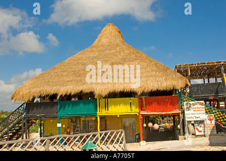 Mexico Cozumel Punta Sur beach Rastas bar - Stock Image