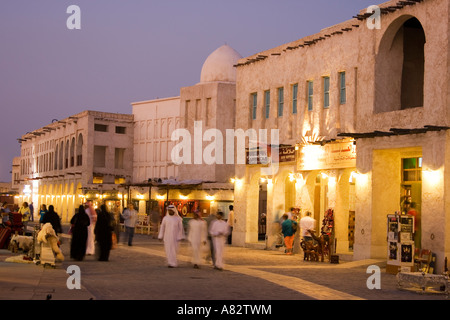Qatar Doha Souk at twilight - Stock Image