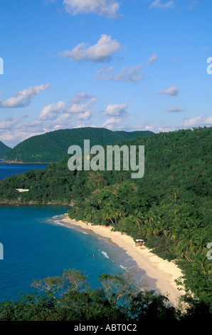 U S Virgin Islands St John Trunk Bay Beach - Stock Image
