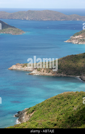 BVI Tortola Ridge Road North Shore Atlantic Ocean Rogue Point - Stock Image