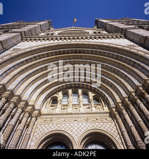 Cromwell Road façade and Front entrance of The Natural History Museum London - Stock Image