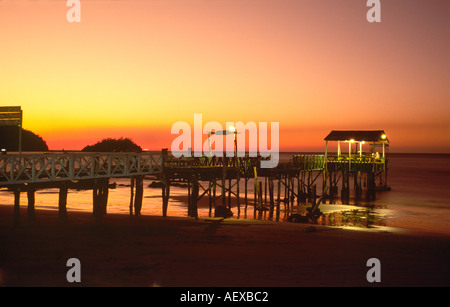 Costa Rica Playa de Coco sunset at Coco beach pacific coast  - Stock Image