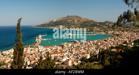 Greece Zakynthos town viewpoint from Strani hill - Stock Image