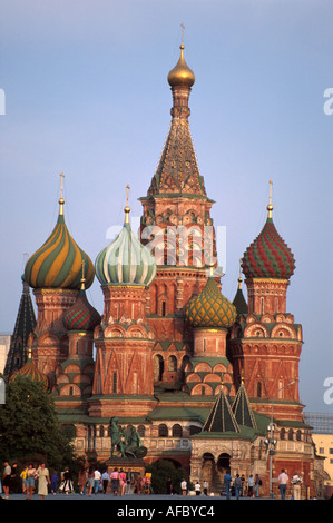 Russia former Soviet Union Moscow Red Square St. Basil's Cathedral by Ivan the Terrible Eastern Orthodox church - Stock Image