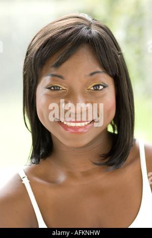 Portrait of ethnic girl - Stock-Bilder