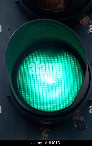 Green go traffic light sign London England UK - Stock-Bilder