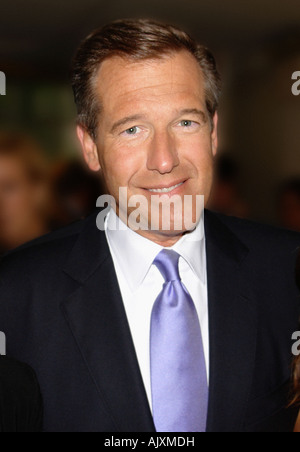 Candid Portrait of NBC Nightly News Anchor and Journalist Brian Williams - Stock Image