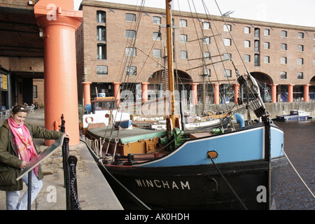 UK, England, Liverpool, Maritime Museum, Albert Dock, Wincham, - Stock Image