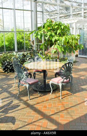 The Victorian Greenhouse Garden At The Frederik Meijer Gardens Grand Rapids  Michigan MI   Stock Image
