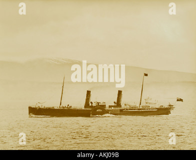 UK Scotland Firth of Clyde The Paddle Steamer Cobra photographed 11 4 89 - Stock Image