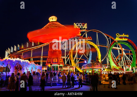 Oktoberfest, Munich beer festival, Bavaria, Germany - Stock Image