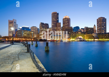 USA Boston Massachusetts Skyline viewed from Fan Pier - Stock Image
