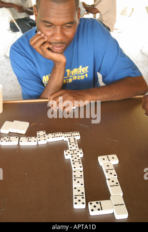Florida Pembroke Pines built B. Smith Park Jamaican Jerk Festival Jamaica World Championship of Dominoes Black male - Stock Image