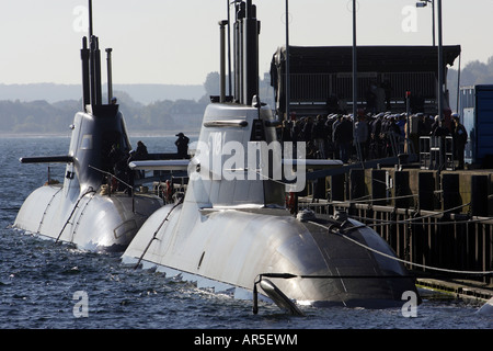 U 31 and U 32 - first fuel cell propelled submarines, Eckernfoerde, Germany - Stock Image