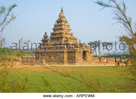 The Shore Temple in Mamallapuram in Tamil Nadu India - Stock-Bilder