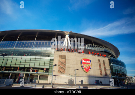 Arsenal fc football ground stadium stock photos arsenal for Arsenal mural emirates