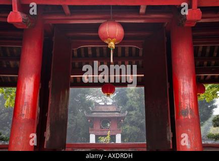 Traditional architecture in Literature Temple Hanoi Vietnam - Stock-Bilder