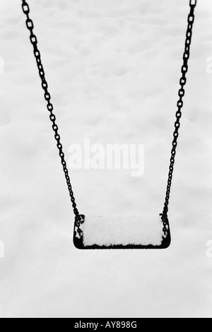 Swing In The Snow - Stock-Bilder