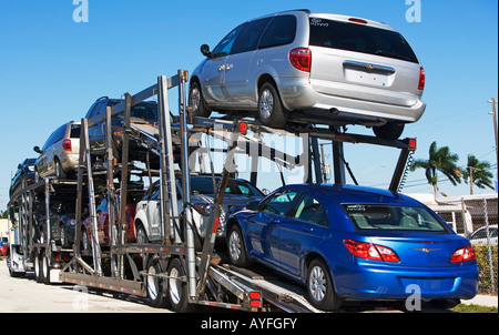 car  carrier - Stock Image
