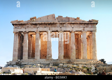 Acropolis Now  The ancient Parthenon temple, focal point of the Acropolis in Athens Greece. - Stock Image