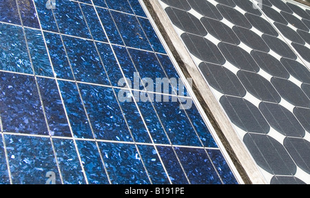 Solar panels providing power to a straw bale house in the Long Harbour area. Salt Spring Island. - Stock Image