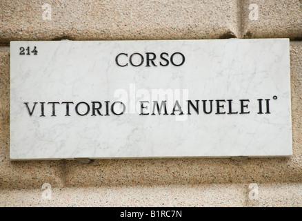 Corso Vittorio Emanuele 2nd - Stock Image
