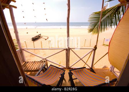 View of Agonda Beach from Beach Hut, South Goa, India, Asia - Stock-Bilder