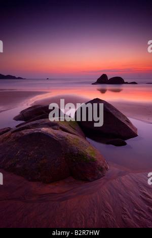 Sunset over Agonda Beach, Goa, India, Asia - Stock-Bilder