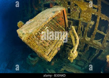 Wreckage of Destroyer USS Anderson Marshall Islands Bikini Atoll Micronesia Pacific Ocean - Stock Image