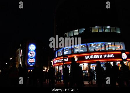 Burger King Night Stock Photos Burger King Night Stock