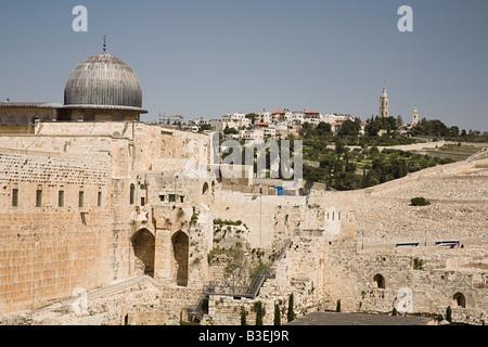 Al-aqsa mosque and east jerusalem - Stock Image