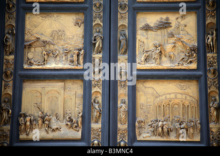 Italy Florence Part of the ornate bronze doors of the Baptistry in Florence - Stock Image & Ghiberti Doors Florence Stock Photos \u0026 Ghiberti Doors Florence ... Pezcame.Com