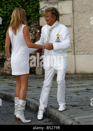 penny lancaster and rod stewart stock photos amp penny