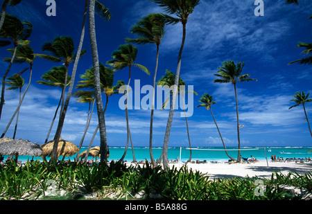 Beach in Playa Bavaro Punta Cana Dominican Republic Caribbean - Stock Image