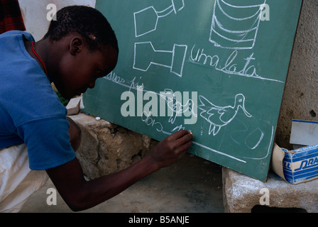 Literacy, Mozambique, Africa - Stock Image