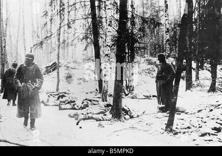 9 1916 3 18 A1 15 E Battle of Postawy 1916 Ger position World War 1 Eastern Front Defeat of Russian troops after - Stock-Bilder