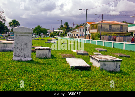 Yarborough Cemetery Belize City first public cemetery in Belize historic site used 1787 to 1896 - Stock Image